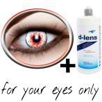 White red horror contact lenses (Bloodshot 3) product image