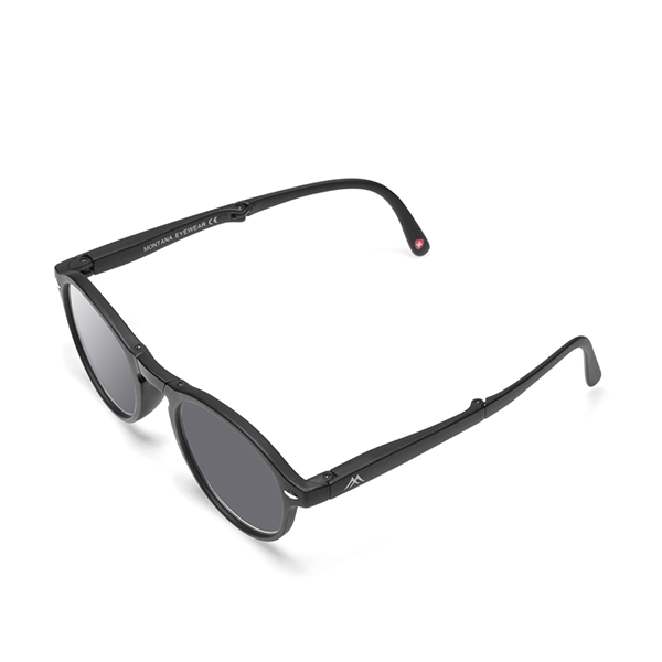 Foldable reading sunglasses Clever Black