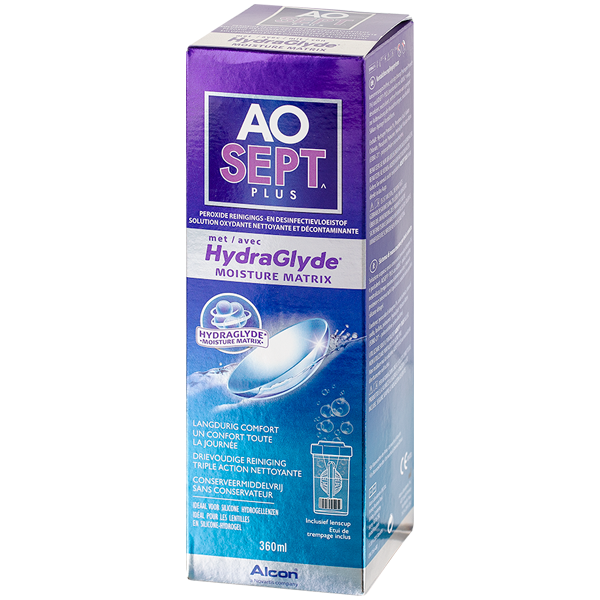 AOSEPT PLUS with HydraGlyde - 360ml